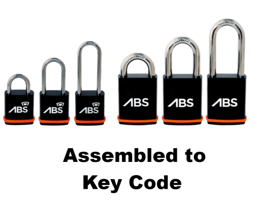 Avocet ABS Padlocks - Assembled To Key Code